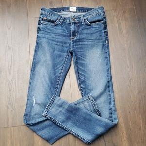 Krista Super Skinny Hudson Distressed Jeans sz 26